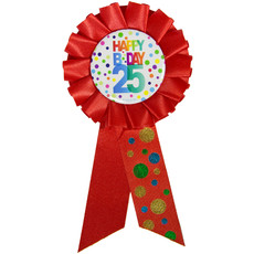 Rozet 25 Jaar Happy Birthday Stippen