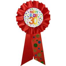 Rozet 30 Jaar Happy Birthday Stippen