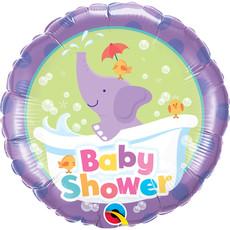 Folieballon Babyshower Oilfant Paars - 45cm
