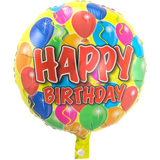 Folieballon Verjaardag 'Happy Birthday' Balloons - 43cm