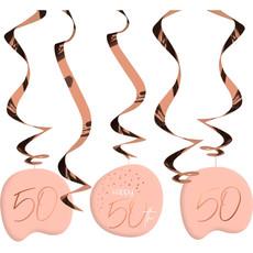 Hangdecoratie Elegant Blush 50 jaar - 5 Stuks