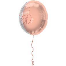 Folieballon 50 Jaar Elegant Blush - 45cm