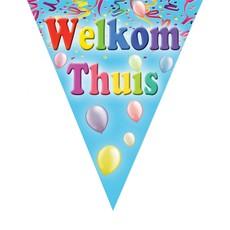 Vlaggenlijn Welkom Thuis Ballonnen & Slingers - 5m