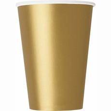 Bekers goud 350ml - 8 stuks