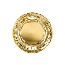 Metallic Gouden Bordjes Rond 18cm - 6 stuks