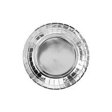Zilveren Metallic Gebaksbordjes 18cm - 6 stuks