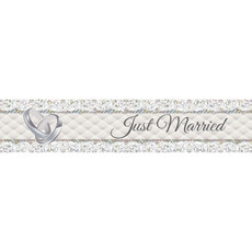 Foliebanner Just Married - 2,5m