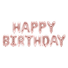 Happy Birthday Ballonnen set Rosé Goud