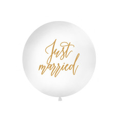 Mega Ballon Just Married Wit - 1m