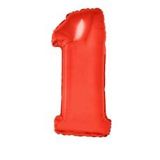Folieballon Rood Cijfer '1' Groot