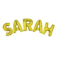 Folieballonnen Set Sarah Goud groot