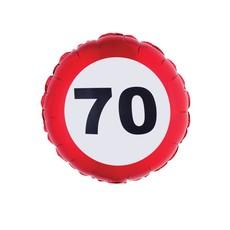 Folieballon verkeersbord 70 Jaar