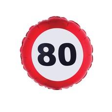 Folieballon verkeersbord 80 Jaar