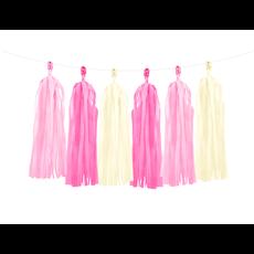 Tassel slinger roze/crème - 1,5 meter