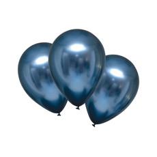 Chrome Ballonnen Azuur Blauw Luxe - 6 Stuks