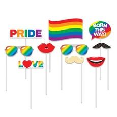 Photo Booth Set Rainbow Pride - 10 Stuks