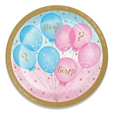 Bordjes Gender Reveal ballonnenprint - 8 Stuks