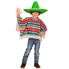 Poncho meerkleurig kind