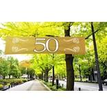 Banner 50 jubileum 180X40 cm