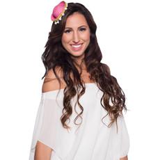 Tiara Mini Sombrero Roze