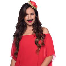 Tiara Mini Sombrero Rood