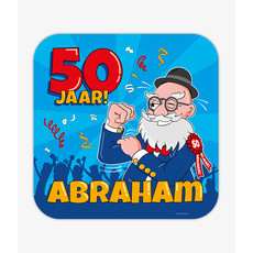 Huldeschild 50 Jaar Abraham Cartoon
