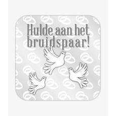 Huldeschild Bruidspaar Cartoon