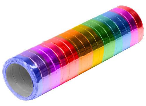Feestbazaar Rol Serpentines Metallic Rainbow 4m online kopen