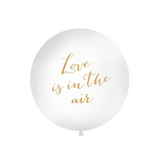 Mega Ballon 'Love Is In The Air' Wit - 1m