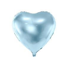 Folieballon Hart Metallic Blauw - 45 cm