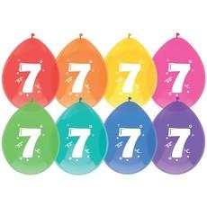 Ballonnen 7 jaar mix kleuren