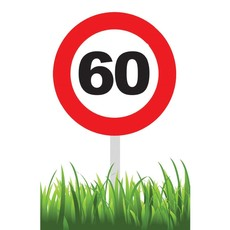 Verkeersbord 60 jaar tuin 36cm