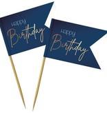 Prikkers  Happy Birthday Elegant True Blue (36st)
