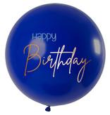 XL Ballon Happy Birthday Elegant True Blue Premium - 80cm