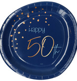 Borden 50 Jaar Elegant True Blue (8st)