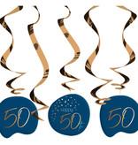 Swirls 50 Jaar Elegant True Blue (5st)