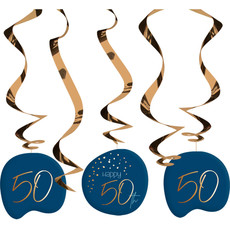 Swirls 50 Jaar Elegant True Blue (5st)