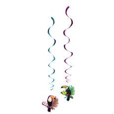 Decoratieswirls Set Toekan Hawaii (2st)