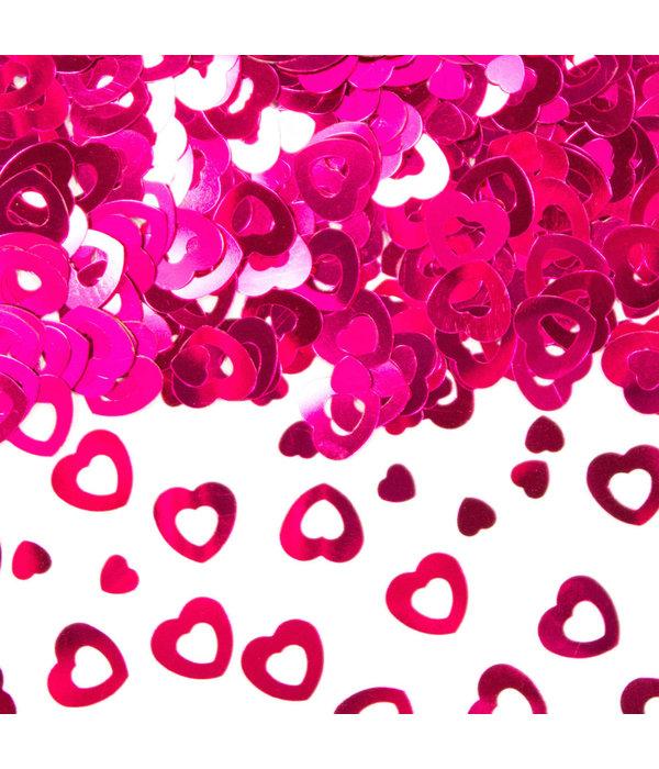 Tafeldecoratie / Sierconfetti Hart Roze