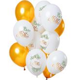 Ballonnen Bruiloft 'Mr & Mrs' Premium (12st)