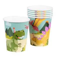 Set 6 bekertjes Dino party