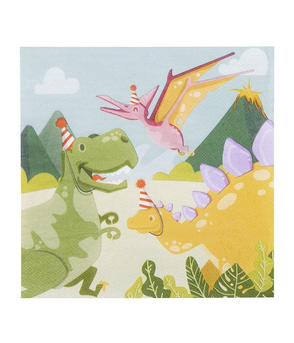 12 servetten Dinosaurus Party
