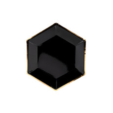 Bordjes Zwart Chic (6st)