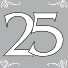 Servetten Zilver 25 Jaar (20st)