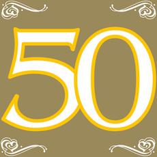 Servetten Goud 50 Jaar (20st)