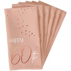 Servetten 60 Jaar Elegant Blush (10st)