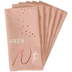 Servetten 70 Jaar Elegant Blush (10st)