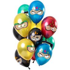 Metallic Ballonnen Set Superhelden Premium (12st)