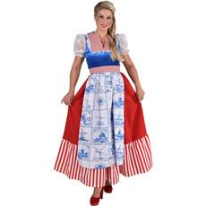 Delfts blauw Holland jurk lang