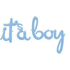 Folie Ballonnen 'It's A Boy' Pastel Blauw